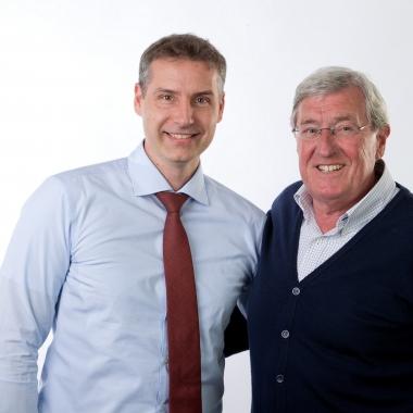 Geschäftsführer Erik Heinrich mit Firmengründer und Gesellschafter Gert Smit