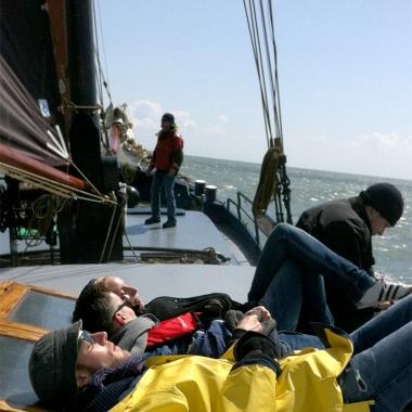 brainbits Event 2012 - Segeltörn - 2 Tage waren wir bei bestem Wetter auf See