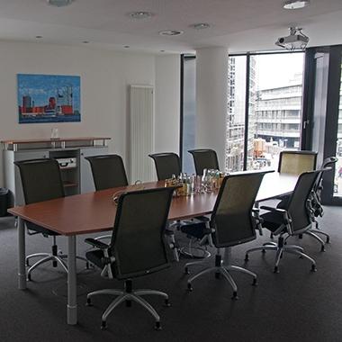 Konferenzraum im Hamburger Büro