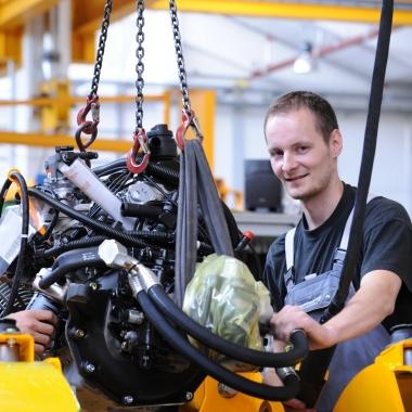 Produktion im Werk in Moosburg
