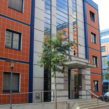 Unser Gebäude auf dem Gelände Focus Teleport.