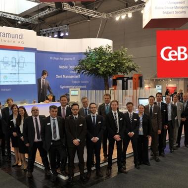 Die baramundi software AG präsentiert ihre Softwarelösung jährlich auf der CeBIT in Hannover.