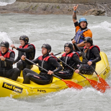 Azubi-Ausflug, Ötztal, Rafting, September 2014