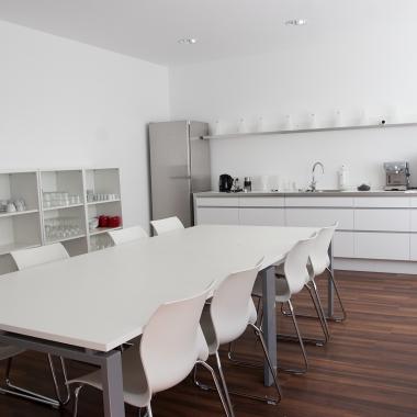 Küche im Entwickler-Büro