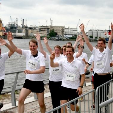 Das CP-Team unterstützt seit mehreren Jahren den HSH Nordbank Run in der Hamburger Hafencity.