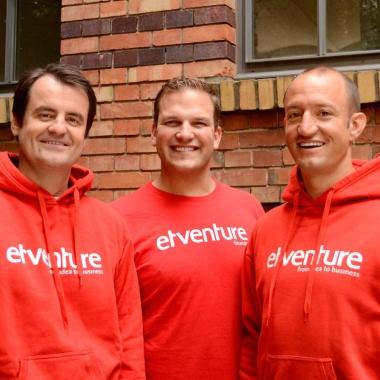 etventure Geschäftsführer: (von links nach rechts) Christian Lüdtke, Philipp Depiereux, Philipp Herrmann