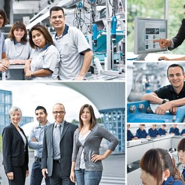 Knapp die Hälfte unserer Mitarbeiter arbeitet in Deutschland - an den Standorten Esslingen-Berkheim und  St. Ingbert-Rohrbach oder in einem der zahlreichen Verkaufsbüros.