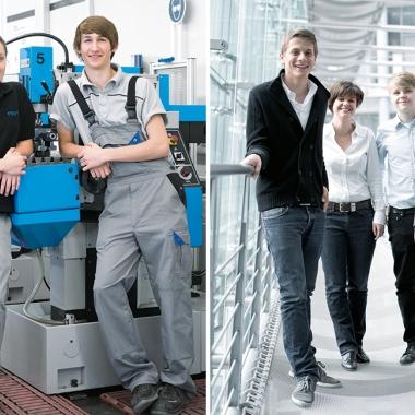 Ob technisch oder kaufmännisch: Jahr für Jahr bilden wir in knapp 20 Ausbildungs- und Studiengänge unsere Fachkräfte der Zukunft aus.