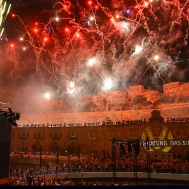 Im Hafen von La Valetta feiern wir mit unseren Berufskollegen aus Deutschland und Österreich.