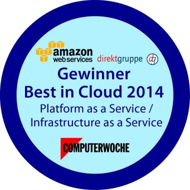 direkt gruppe gewinnt Best in Cloud Award 2014 gemeinsam mit Amazon Web Services und Talanx AG.