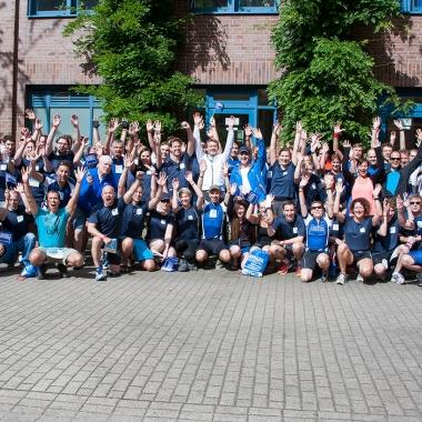 Das Funk-Team bei Triathlon Hamburg