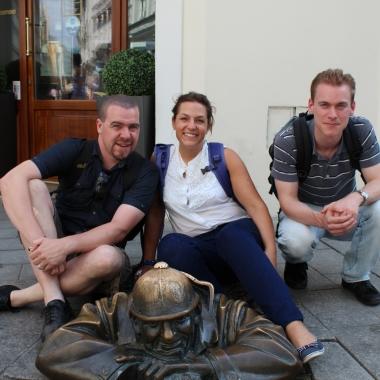 Spaß in Bratislava - Andreas, Bettina und Ben