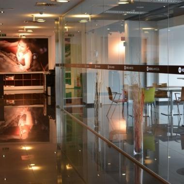 Schauraum und Aufenthaltsraum in der Zentrale in Wien