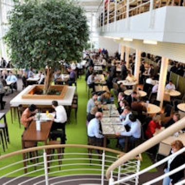 Das Betriebsrestaurant in Wiesbaden – immer gut besucht