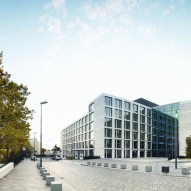 Der R+V-Campus der Direktion am Raiffeisenplatz Wiesbaden