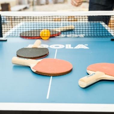 Tischtennis ist eine beliebte Sportart bei cleverbridge
