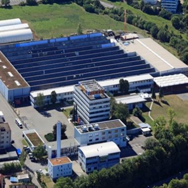 Unsere Unternehmenszentrale in Leonberg aus der Vogelperspektive