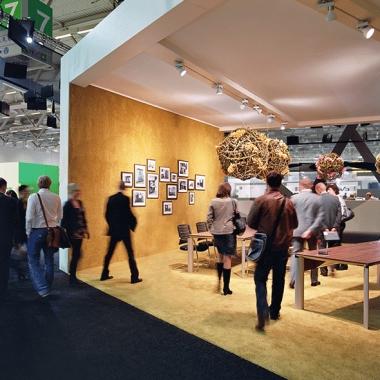Der Büromöbelhersteller Palmberg wurde auf der Orgatec 2012 in Szene gesetzt.