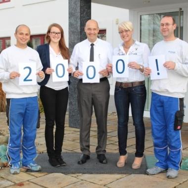 Geschafft! Seit Oktober 2014 zählen wir insgesamt über 2.000 Mitarbeiter.
