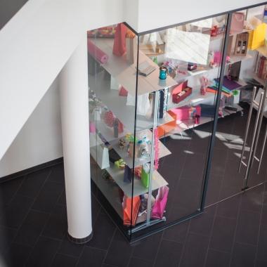 Der Showroom mit wechselnden Themenausstellungen