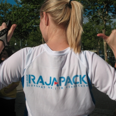 Rajapack nimmt seit 2012 am B2RUN in Karlsruhe statt
