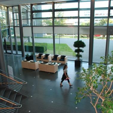 Der Eingangsbereich der Direktion in Stuttgart
