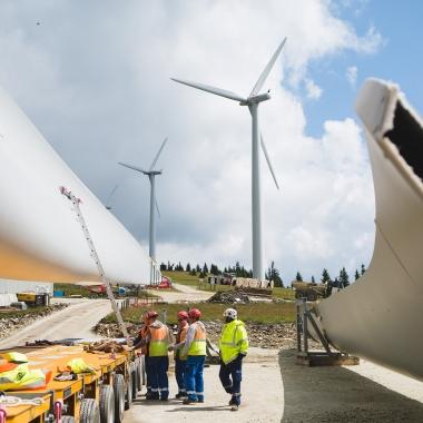 Eindrücke von der Errichtung des Windparks Steinriegel.   (c) Wien Energie/ Ian Ehm
