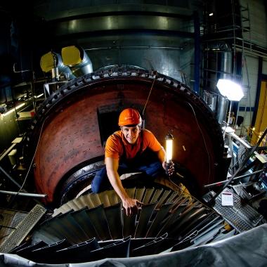 Gasturbinen Revision im Kraftwerk Simmering.   (c) Wien Energie/ Ian Ehm