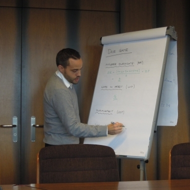 Bei den Kunden werden Workshops durchgeführt und von unseren Consultants moderiert.