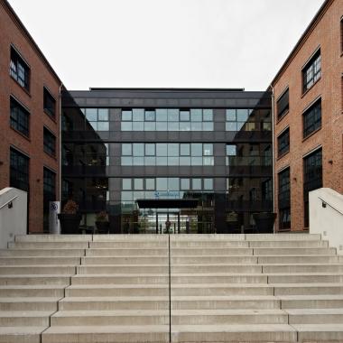 Das Barclaycard Gebäude in Hamburg