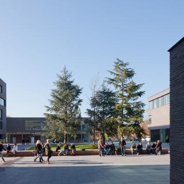 Drei Bildungseinrichtungen beherbergt der Bildungscampus der Dieter Schwarz Stiftung in Heilbronn.