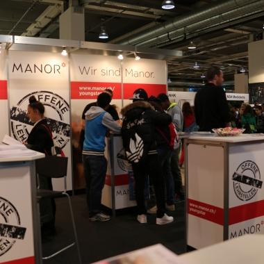 Voll im Einsatz an der Berufs- und Weiterbildungsmesse 2014 in Basel