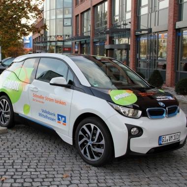 Volksbank Mittelhessen setzt auf Elektromobilität.