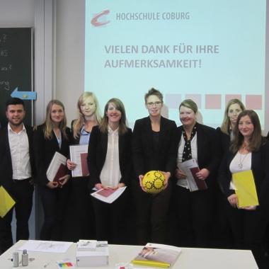 Kooperationen mit verschiedenen Hochschulen stehen auch auf dem Hochschulmarketing-Plan. Hier zum Beispiel mit der HS Coburg.
