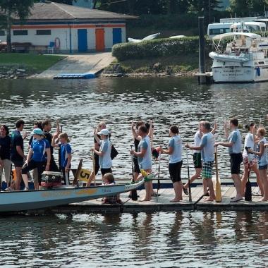 DAS SCHUFA-Drachenboot Team High Scorer.