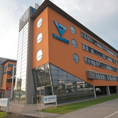 Das VAMED-Gebäude im 23. Wiener Gemeindebezirk.