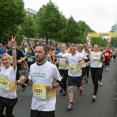 Motivierte Läufer beim TUI Marathon 2014