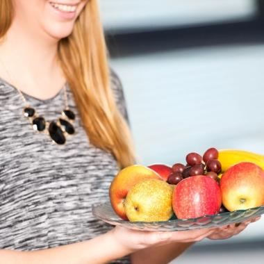 Für den Vitaminboost, mehr Energie und Abwehrkräfte im Alltag steht wöchentlich frisches Obst zur freien Verfügung.