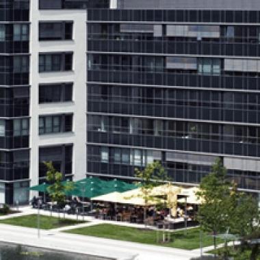 Das Office der blu Systems GmbH, am modernen Campusgelände in München Garching: Parkring 4, 85748 Garching bei München.