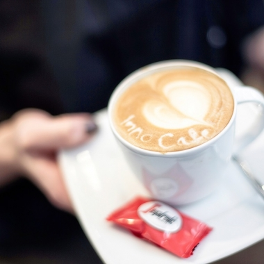 Enjoy your coffee in our in-house canteen.