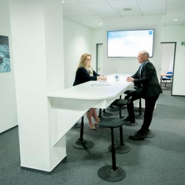 Dank unseres Centers, dem Mittelpunkt des Netlution Office, kennt unsere Kommunikation nur kurze Wege.