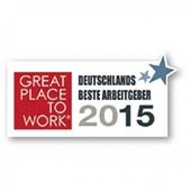Auszeichnung Great Place to Work 2015