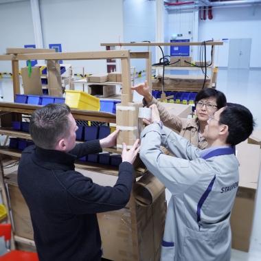 Cardboard Engineering beim chinesischen Kunden