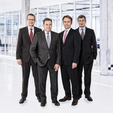 Die Geschäftsführung. v.l. Hanns Bernd Ketteler, Henning Wagner, Christian Sobottka, Marcus Parche