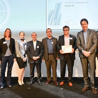 Auszeichnung zum Top Reseller Schweiz durch Siemens Industry Software