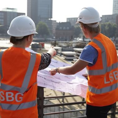 Hamburgs Infrastruktur in guten Händen beim  Landesbetrieb Straßen, Brücken und Gewässer (LSBG). Foto: LSBG.