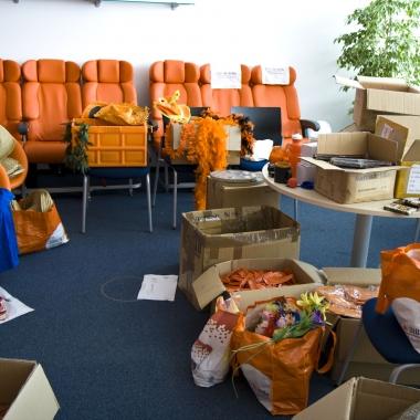 Interner Flohmarkt & wir sammeln Spenden für Flüchtlinge Juli 2015