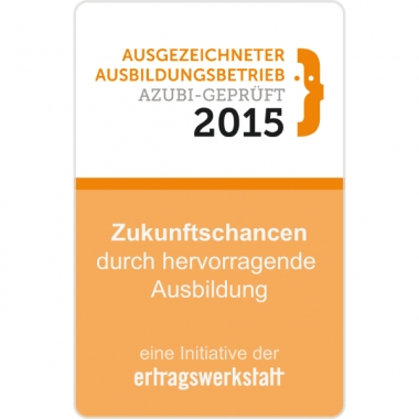 Kurtz Ersa ist Augszeichneter Ausbildungsbetrieb 2015!