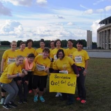Team Berlin im September 2015 beim B2Run