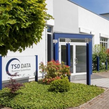 Der Eingang bei TSO-DATA in Osnabrück